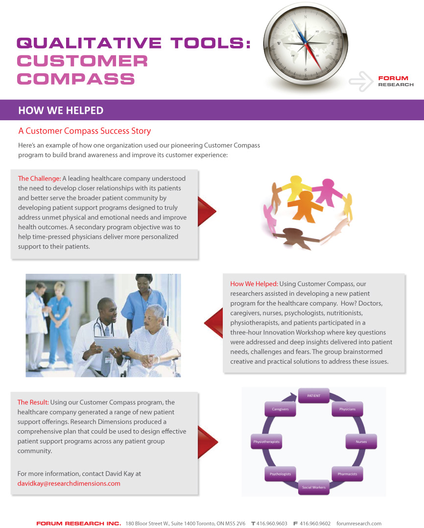 brochures page 5 of 7 < insight < forum research inc qualitative research qualitative tools customer compass